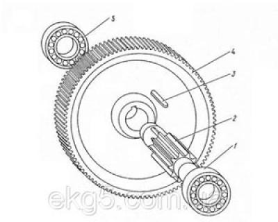 Блок на редуктор механизма поворота экскаватора ЭКГ-5 чертеж 1080.16.01сб