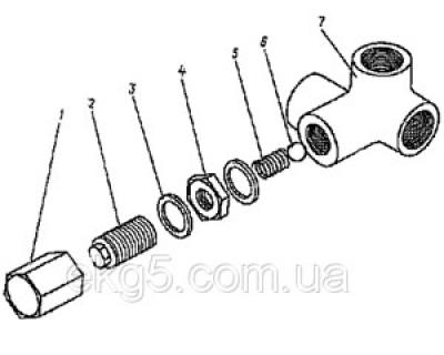 клапан гидравлической системы чертеж 1080.37.38