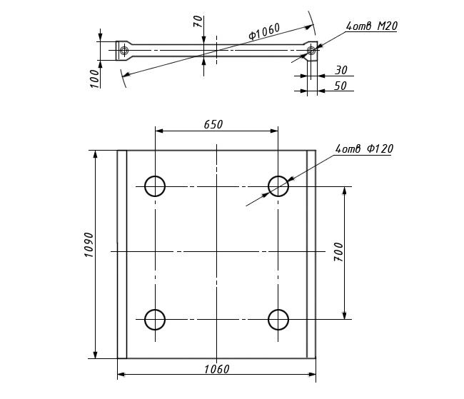 Плита распорная передняя СМД-111 3440.00.008/3442.00.002