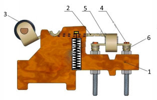 Схема устройство контактное(кулачковый элемент) ЭУ-5