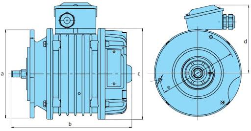 Двигатель перемещения (передвижения) тельфера (тали) Болгарский, 2-3,2т