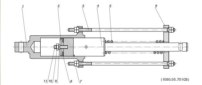 Цилиндр 1080.05.701СБ для ЭКГ-5